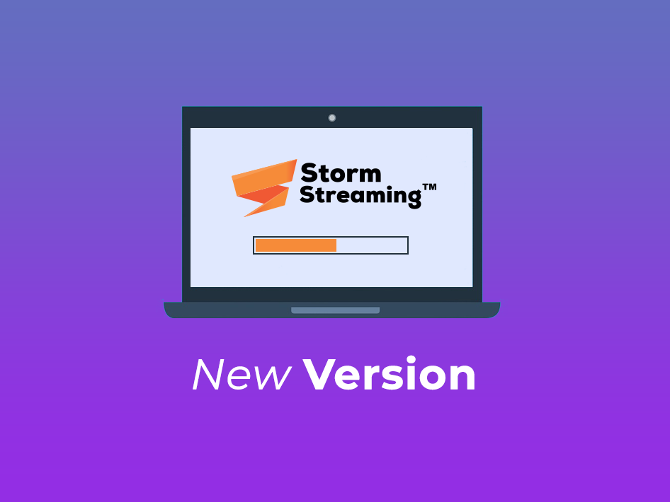 notebook with storm streaming logo